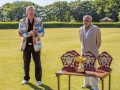 2018 Festival Paul Rigge with Festival Manager Abdul Ahmad and the trophies.  And the Winners are ......