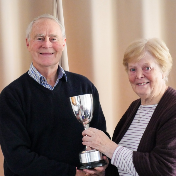 Sheil Marsland  (Tattenhall) presented with the Townsend Award for Lawn Improvement on behalf of the CA by John Dawson
