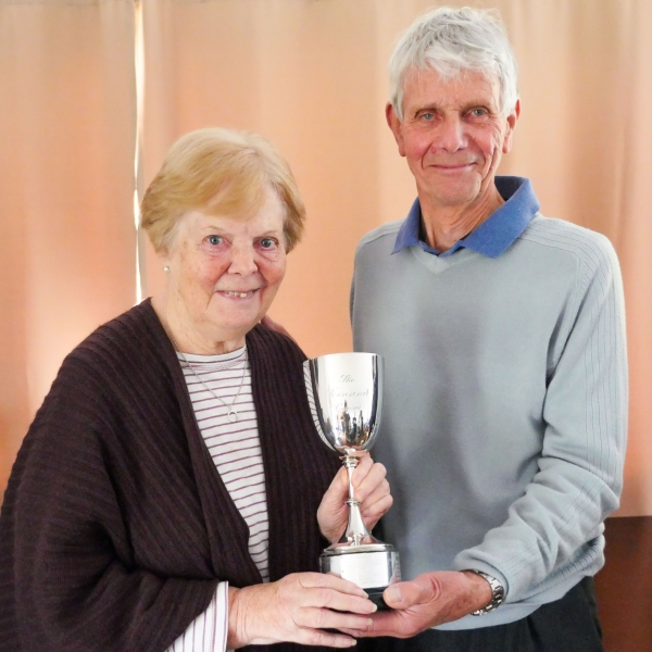 Sheila Marsland and David Boyd with the Townsend Trophy