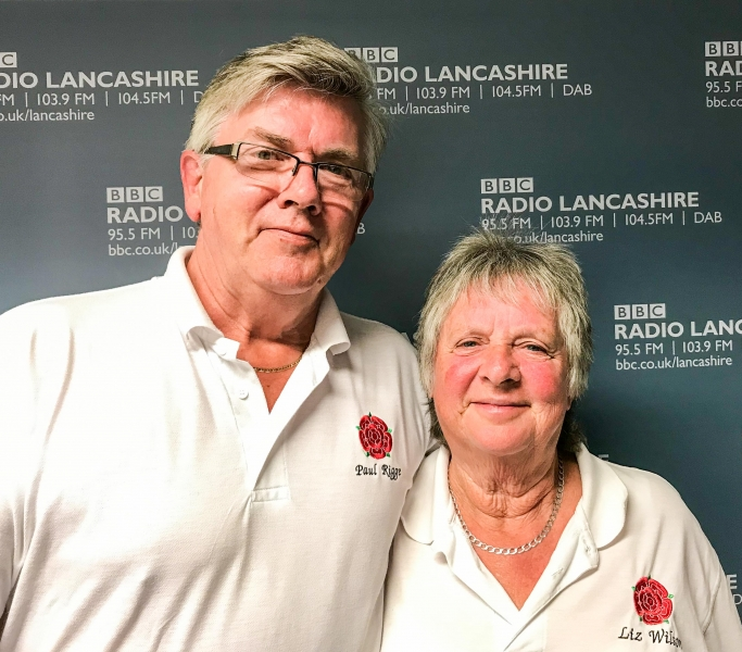Paul Rigge and Liz Wilson at Radio Lancashire Studios (photo: Scott Wallis)