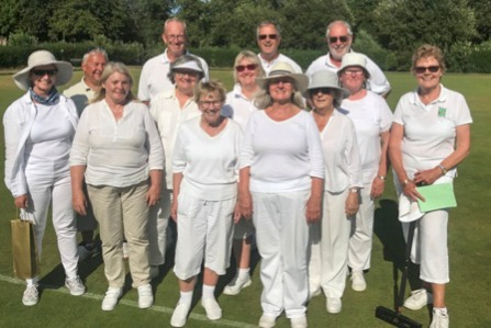 2018 C Golf Players at Middlesbrough - From left to right: Sandra Cornes, Dave Okell, Alison Okell, John Fitzpatrick, Izzy Poyntz, May Hall, Marcia Henderson Colin Chun, Brenda Johnson, Jean Thompson, Derek Johnson, Sue Caygill and Sara MacPherson.