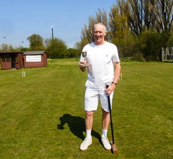 Kevin Wright - Winner of the Over 10 Handicap Trophy in the John Beech Easter Tournament - April 2019