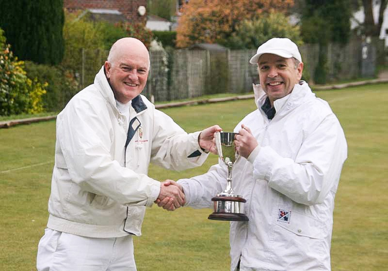 2019 Adv Millenium Class A Winner Andrew Winn receives the trophy from Secretary David Walters