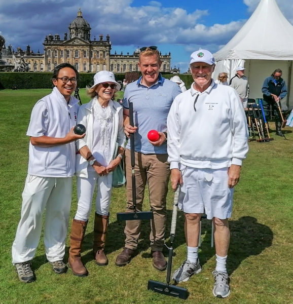 Adam Henson enjoying Croquet at Castle Howard