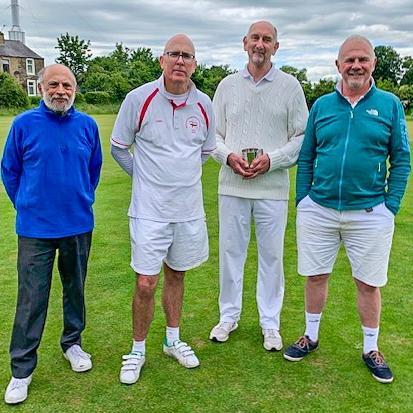 Manager Abdul Ahmad, Tim King, Winner David Widdison, David Bell