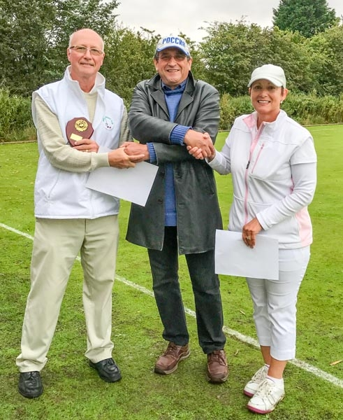 Manager Peter wilson (centre) with Phil Nuttall and Libby Dixon