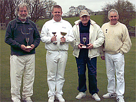 Winners in the inaugural John Beech tournament - David Turner, David Maugham, Robin Delves, Roger Schofield.