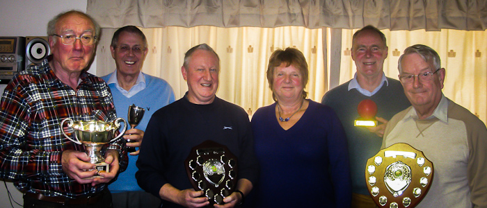 NWFCC Chair Liz Wilson presenting League trophies