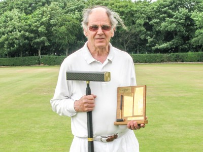 Alan Pidcock with his latest transportable mallet and the Southport Super B trophy