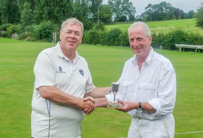 David Lloyd with High Bisquers Trophy