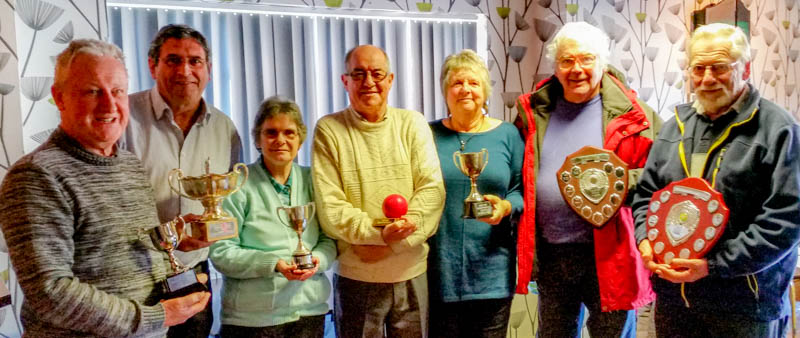 League title presentations for season 2015: Ken Cooper (Level Plays Golf - Bowdon Bandits); Peter Wilson (B Level - Fylde); Jean Hargreaves (Short - Bury); Ian Theakstone (Midweek - Fylde); Liz Wilson (Handicap - Fylde); Roger Schofield (Advanced - Pendle); Don Williamson (Golf - Southport).