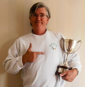 Paul Rigge with the Neil Williams Trophy