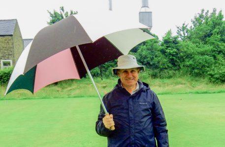 David Gillett sporting a secondary umbrella